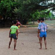 Burmese soccer players