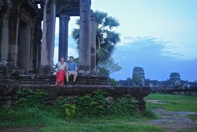 Travel partners at Angkor Wat