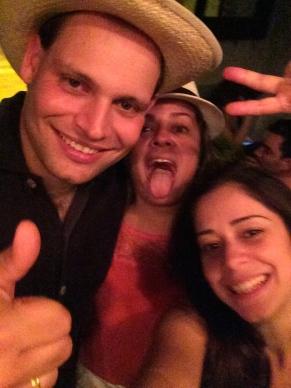 Meeting friends in Cartagena