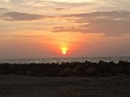 Sunset at Bocagrande Beach